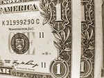 Free Stock Photo: Black and white close-up of US dollars