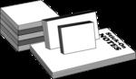 Free Stock Photo: Illustration of stick on notes