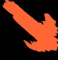 Free Stock Photo: Illustration of an orange diagonal arrow