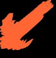 Free Stock Photo: Illustration of a left diagonal orange arrow