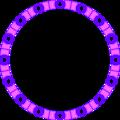 Free Stock Photo: Illustrated circular blank frame