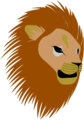Free Stock Photo: Illustration of a lions head