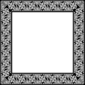 Free Stock Photo: Illustration of a blank ornate frame border