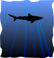 Free Stock Photo: Illustration of a shark silhouette