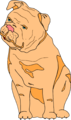 Free Stock Photo: Illustration of a bulldog