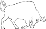 Free Stock Photo: Illustration of a bull