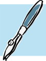 Free Stock Photo: Illustration of a blue fountain pen