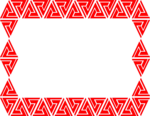 Free Stock Photo: Illustration of a blank red triangular frame border