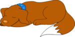 Free Stock Photo: Illustration of a brown dog sleeping