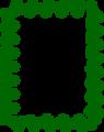Free Stock Photo: Illustration of a blank green frame border