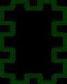 Free Stock Photo: Illustration of a puzzle shaped blank frame border