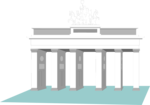 Free Stock Photo: Illustration of the Brandenburg Gate in Berlin, Germany