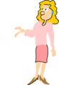 Free Stock Photo: Illustration of a business woman holding a blank paper