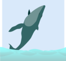 Free Stock Photo: Illustration of a whale flipping onto its back
