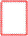 Free Stock Photo: Illustration of a blank frame border of red circles