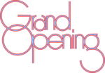 Free Stock Photo: Illustration of decorative grand opening text