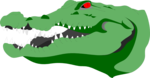 Free Stock Photo: Illustration of a crocodile head