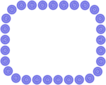 Free Stock Photo: Illustration of a blank frame border of blue circles