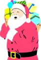 Free Stock Photo: Illustration of Santa Claus carrying a sack of presents