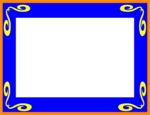 Free Stock Photo: Illustration of a blank picture frame border
