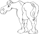 Free Stock Photo: Illustration of a cartoon horse