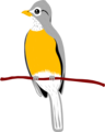 Free Stock Photo: Illustration of a yellow robin