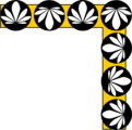 Free Stock Photo: Illustration of an upper right frame corner with flowers