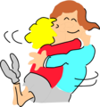 Free Stock Photo: Illustration of a couple hugging