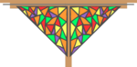 Free Stock Photo: Illustration of a colorful corner design