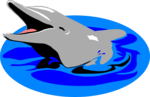 Free Stock Photo: Illustration of a dolphin in the water