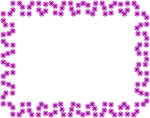 Free Stock Photo: Illustration of a blank frame border of purple squares