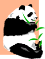Free Stock Photo: Illustration of a giant panda