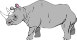 Free Stock Photo: Illustration of a rhinoceros