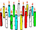 Free Stock Photo: Illustration of  colored candles