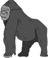 Free Stock Photo: Illustration of a gorilla