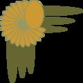 Free Stock Photo: Illustration of a floral upper left frame corner