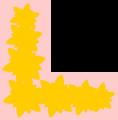 Free Stock Photo: Illustration of a floral lower left frame corner