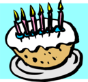 Free Stock Photo: Illustration of a birthday cake