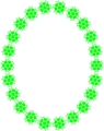 Free Stock Photo: Illustration of a blank frame border of green shapes
