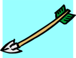 Free Stock Photo: Illustration of a lower left pointing arrow