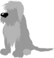 Free Stock Photo: Illustration of a shaggy dog