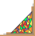 Free Stock Photo: Illustration of a lower right stained glass frame corner