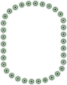 Free Stock Photo: Illustration of a blank border of green star shapes