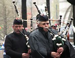 Free Stock Photo: Bagpipe players in the 2009 Atlanta Saint Patricks Day Parade