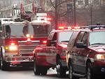 Free Stock Photo: A firetruck and rescue vehicles in the 2009 Atlanta Saint Patricks Day Parade
