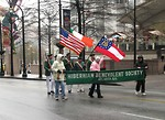 Free Stock Photo: People marching with flags in the 2009 Atlanta Saint Patricks Day Parade