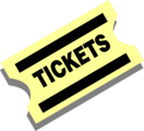 Free Stock Photo: Illustration of a yellow ticket