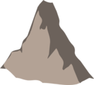 Free Stock Photo: Illustration of the Matterhorn mountain peak