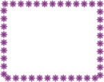 Free Stock Photo: Illustration of a blank frame border of purple star shapes