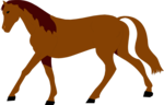Free Stock Photo: Illustration of a brown horse